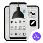 Download Black & White Light APUS Launcher theme 63.0.1001 APK For Android