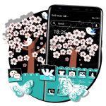 Download Cartoon Bird Tree Launcher Theme 1.0.0 APK For Android