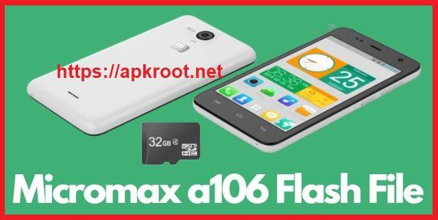 Micromax A106 Flash File Logo