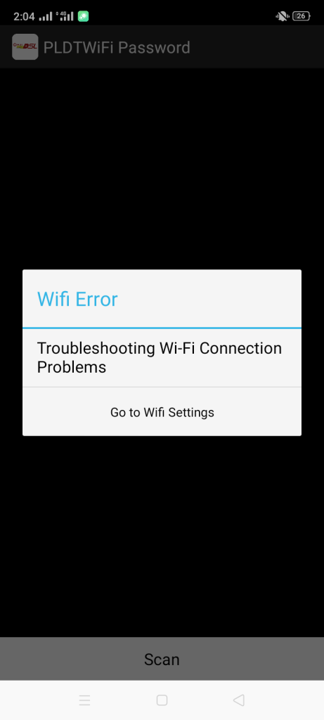 Screenshot of PLDT WiFi Hacker Apk