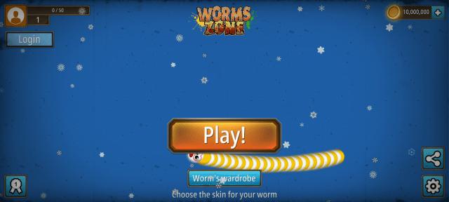 Screenshot of Wormszone.io Mod Apk