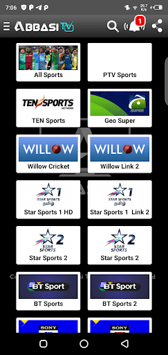 Screenshot of Abbasi TV For Android