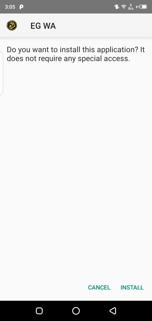 Screenshot of EG WhatsApp