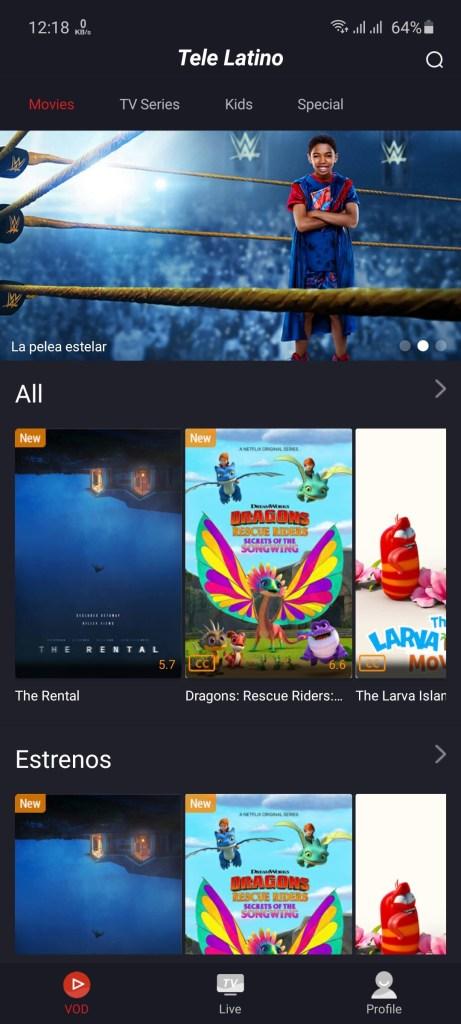 Screenshot-of-Tele-Latino-App