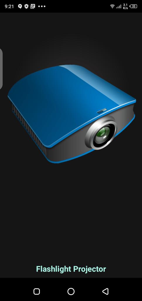 Screenshot-of-Flashlight-Video-Projector-App