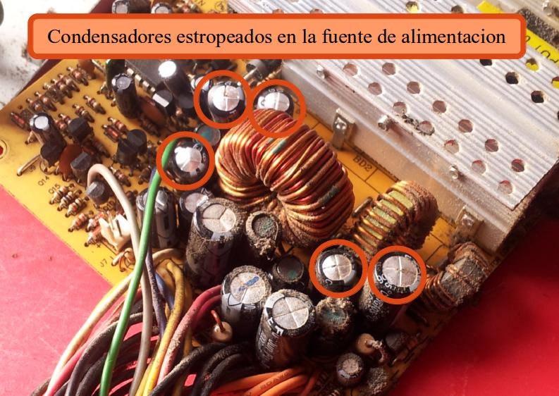 damaged-power-supply-capacitors