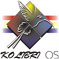 KolibriOS the operating system on a diskette.