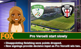 218: Pro Vercelli start slowly