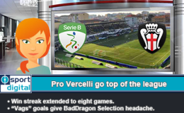 226: Pro Vercelli go top of the league