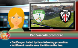 228: Pro Vercelli promoted