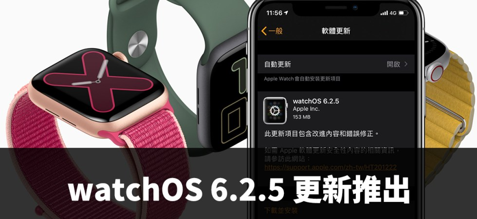 watchOS 6.2.5、Apple Watch、彩虹錶面