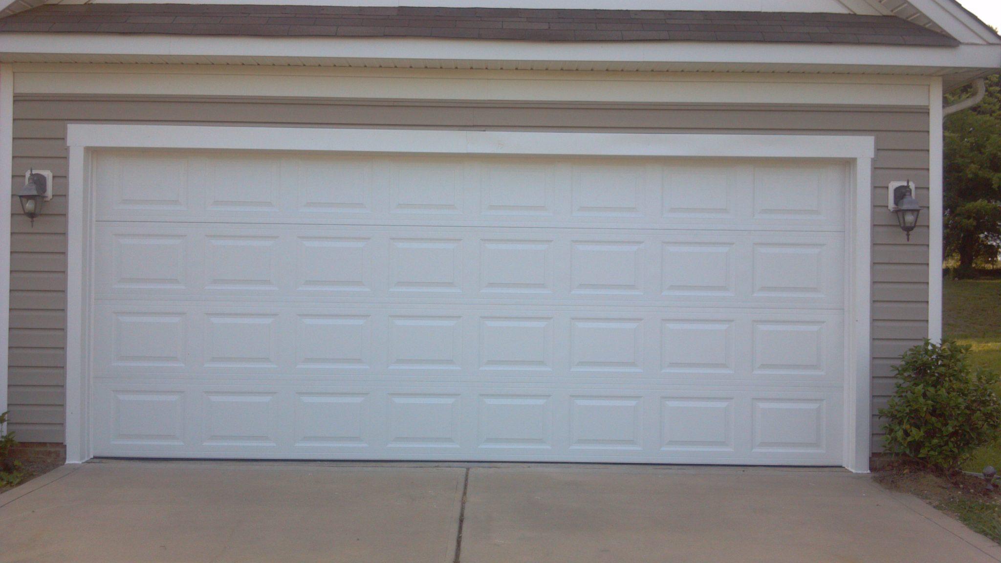 Two Single Garage Doors Made Into One Garage Door After