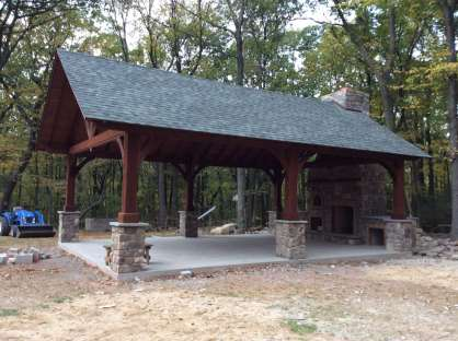custom wood pavilions in berks county pa
