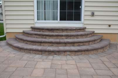 natural stone stairs and patio in Honey Brook, PA