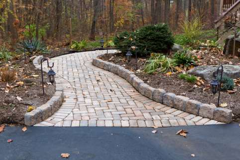 natural stone and brick pathway in Lebanon, PA