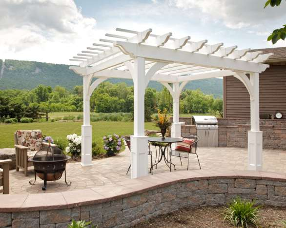 custom vinyl pergolas in berks county pa
