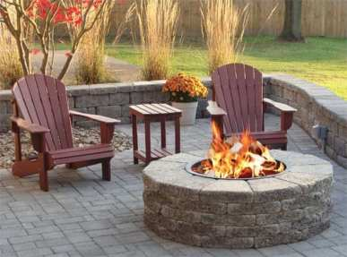 outdoor backyard fire pit Chester County, PA