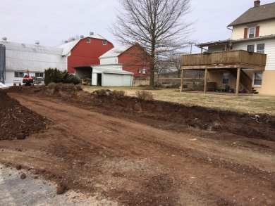 landscape excavation in Chester County, PA