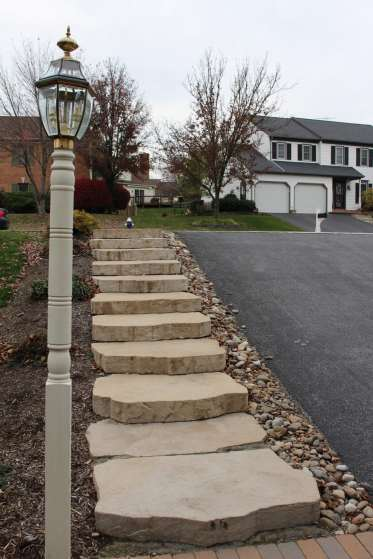 natural stone walkway steps in Chester County, PA