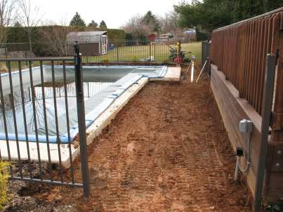 landscape excavation in Berks County, PA