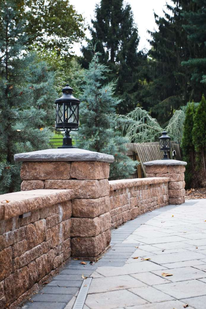 natural stone block wall in Lancaster, pa