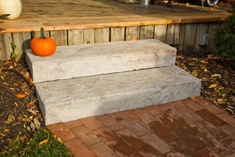 natural stone outdoor steps in Berks County, PA