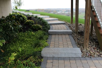 stone walkway and steps in Berks County, PA