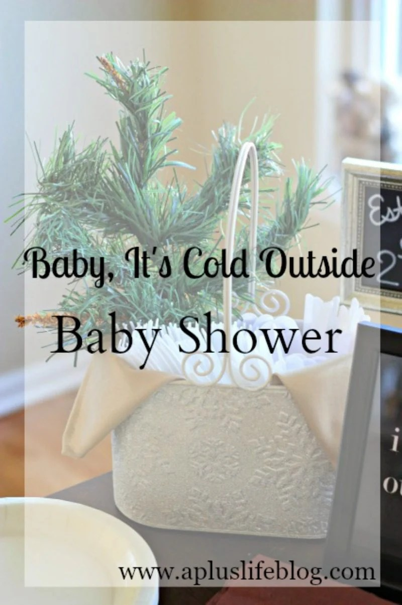 Baby It's Cold Outside Baby Shower Theme by Missouri lifestyle blogger A + Life, winter baby shower theme, winter baby shower, #babyshower #babyshowertheme