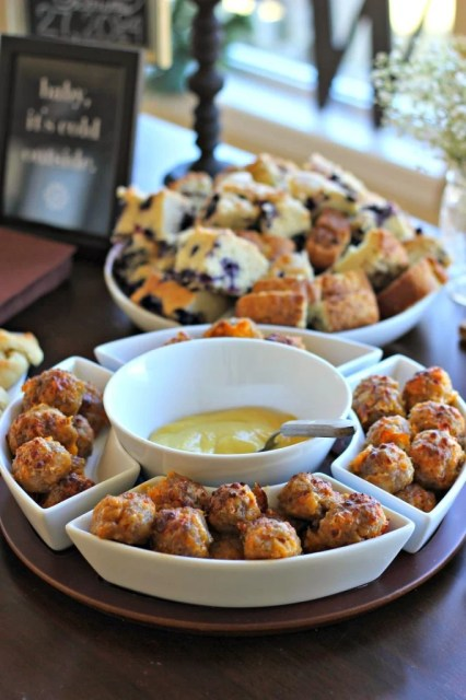 Sausage Balls - Baby It's Cold Outside Baby Shower Theme by Missouri lifestyle blogger A + Life
