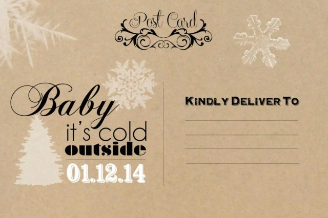 Etsy Postcard Baby It's Cold Outside Shower - Baby It's Cold Outside Baby Shower Theme by Missouri lifestyle blogger A + Life