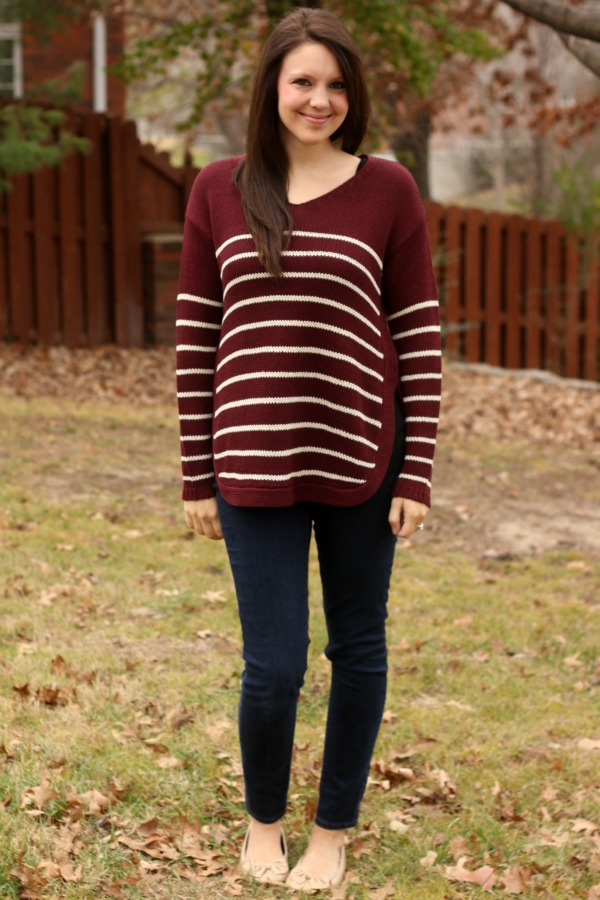 RD Style Beya Side Slit Pullover Sweater - Stitch Fix Review #10 by Missouri style blogger A + Life