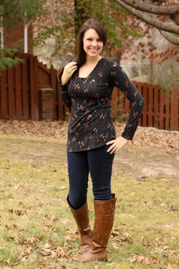 Stitch Fix Long Sleeved Shirt - Stitch Fix Review #10 by Missouri style blogger A + Life