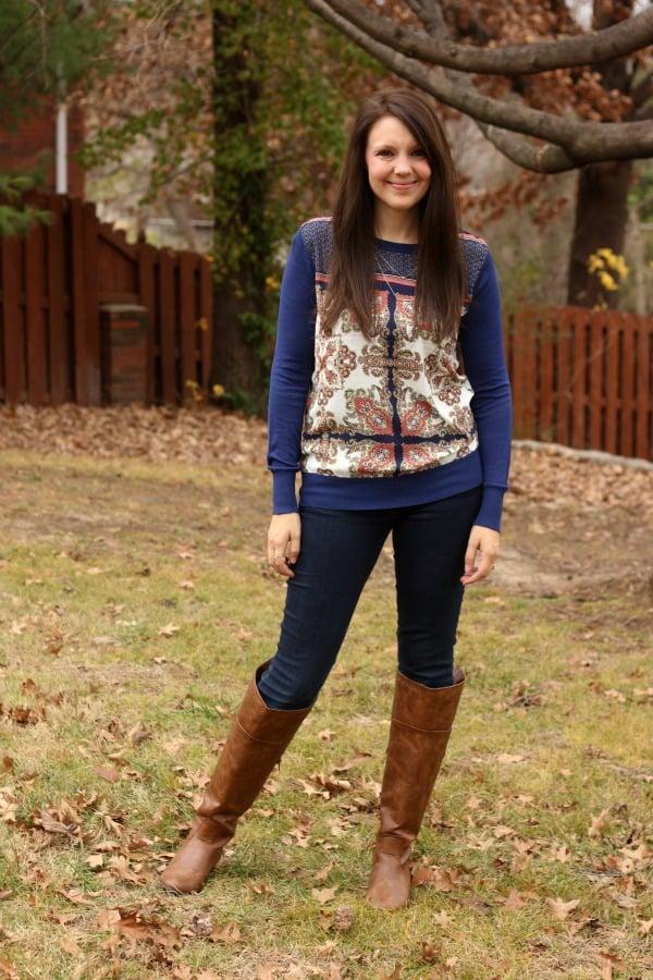Stitch Fix Blue Sweater  - Stitch Fix Review #10 by Missouri style blogger A + Life