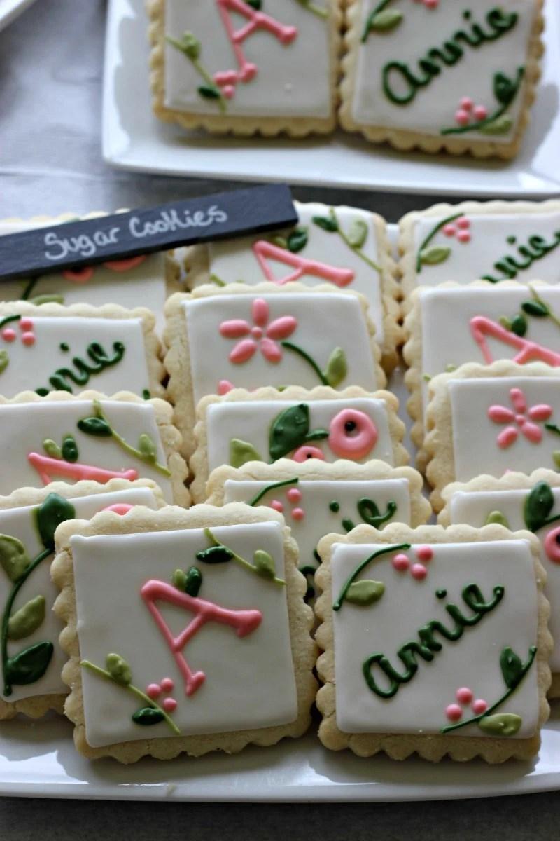 Garden Baby Shower Theme Cookies #Babyshowerfood #babyshowerdessert