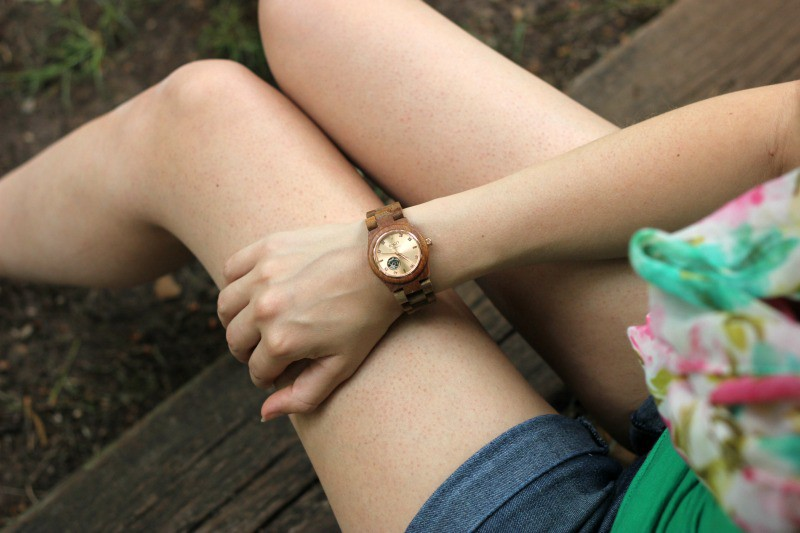 Jord Cora Koa And Rose Gold Wood Watch