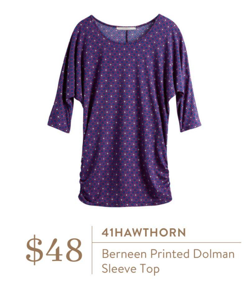 41Hawthorn Berneen Printed Dolman Top