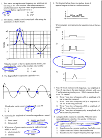 Wave Interference Worksheet. Worksheets. Ratchasima
