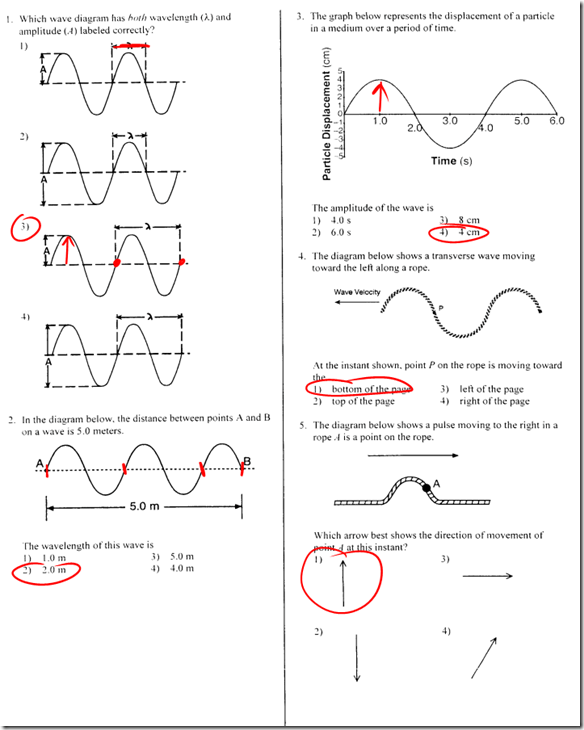 Wave Characteristics Worksheet
