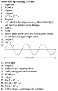 EM Spectrum WS Answers