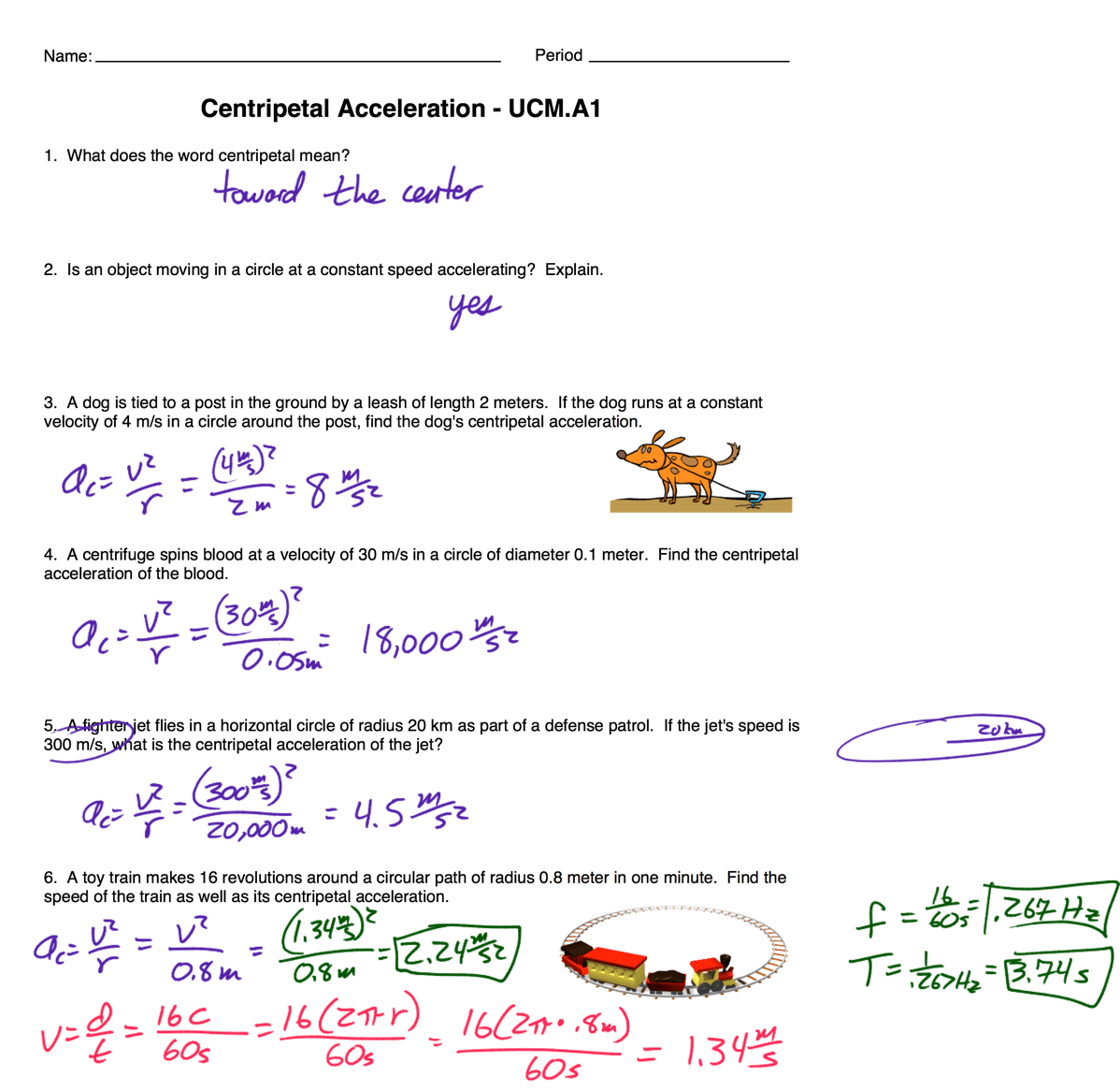Centripetal Force Equation With Frequency