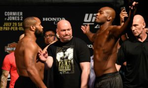 Daniel Cormier and Jon Jones face off