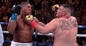 Anthony Joshua vs Andy Ruiz Jr trade blows in their first fight at Madison Square Garden