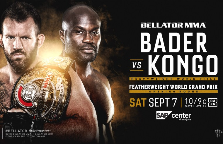 Bellator 226: Ryan Bader To Defend Heavyweight Title Against Cheick Kongo