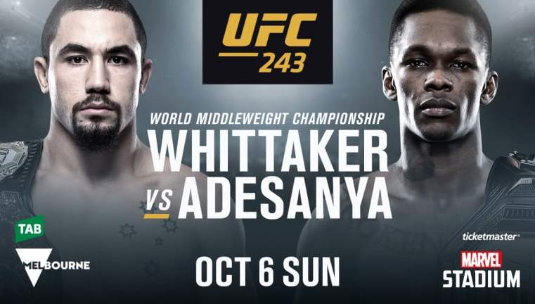 UFC 243: Whittaker vs Adesanya Results