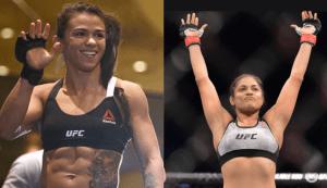 Claudia Gadelha and Cynthia Calvillo who are set to face off at UFC Washington