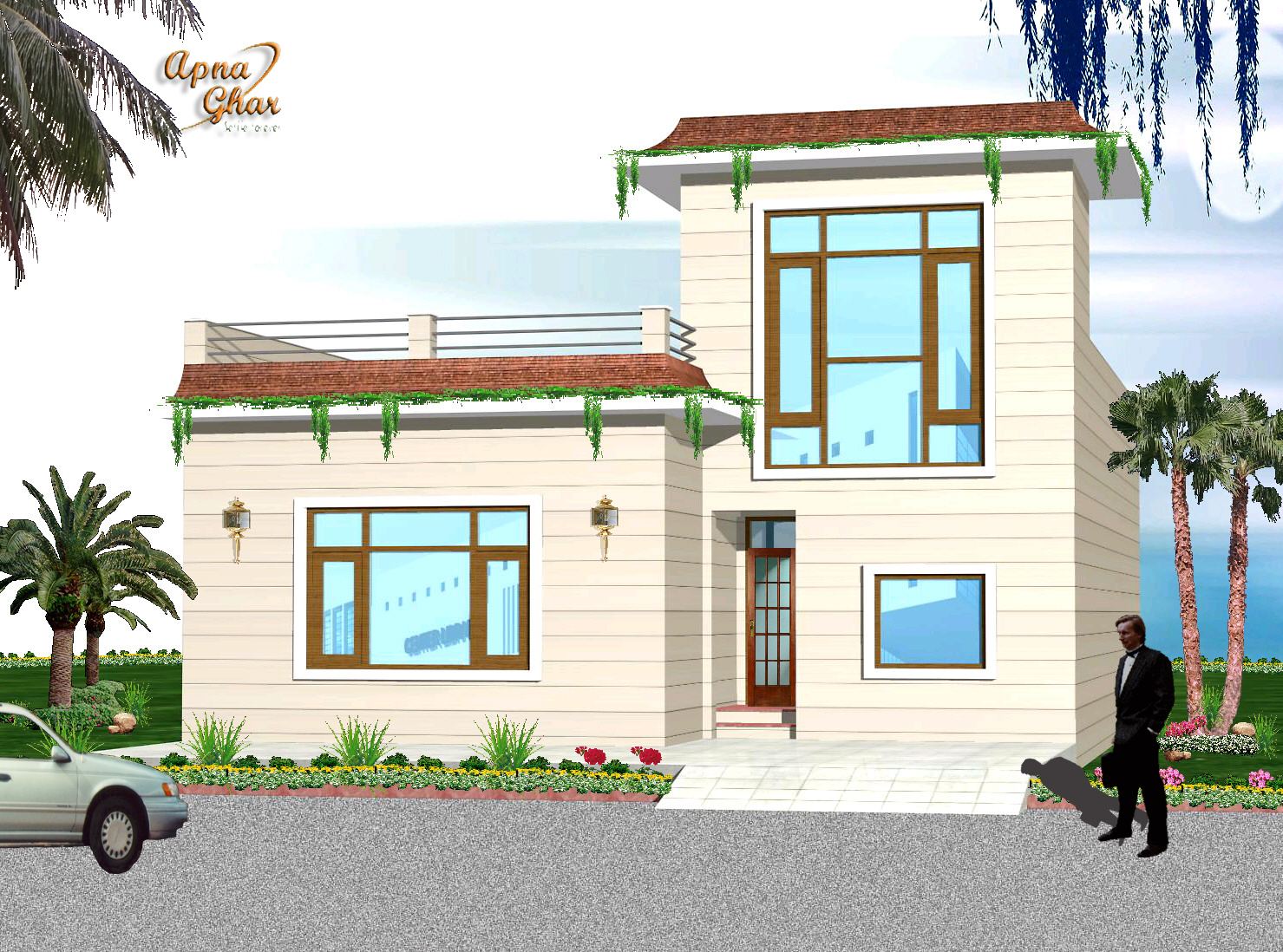 Design Of Small Indian House Front Design