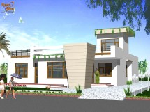 Ground Floor Front Home Elevation Design