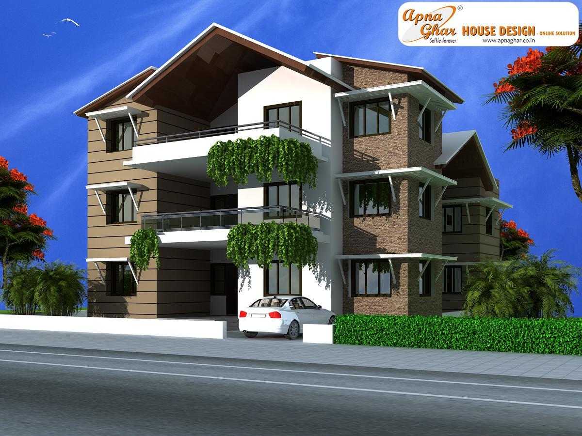 Triplex House Design ApnaGhar House Design