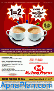 Muthoot finance NCD offer March 2012