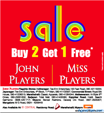 john-players buy 2 get 1 free